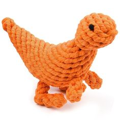 Oneisall Dinosaur Dog Toys Pet Cotton Puppy Chew Rope Biting Toy Teeth Cleaner  #oneisall