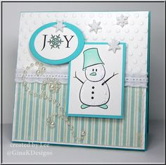 Snowman Joy by LuvLee - Cards and Paper Crafts at Splitcoaststampers