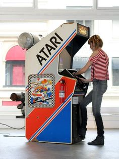 """""""Colorless, odorless and tasteless"""", 2011 by Eva and Franco Mattes aka Customised arcade game, engine. Vintage Video Games, Retro Video Games, Consoles, Console Vintage, Borne Arcade, Bartop Arcade, Retro Arcade Games, Nostalgia, Steampunk"""