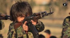 Footage has emerged of child assassins being trained at an ISIS terror camp to kill with machine guns almost as big as they are 16May16 Comment: Burned their passports, too.