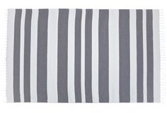Olle Grey - traditional nordic rug with modern stripes. It's made in Finland with high quality and good taste. Find it online www.viitanordic.com