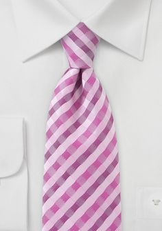 Mens Designer Patterned Tie in Pinks