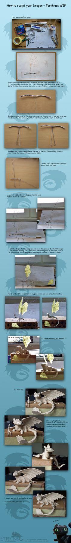 How to sculpt your Dragon by Strecno.deviantart.com on @deviantART