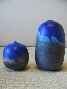 toshiko takaezu.porcelain.makaha blue <3