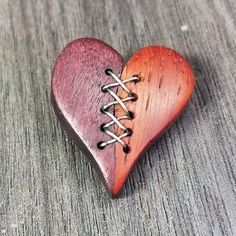 Stiched heart #woodw...