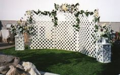 how to make wedding arbor out of lattice backdrops - Google Search