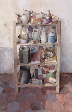 Matteo Massagrande(Italian, Mixed media on wood Painting & Drawing, Watercolor Paintings, Original Paintings, Painting Still Life, Still Life Art, Italian Artist, Everyday Objects, Artist Art, Art Boards