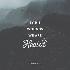 Isaiah He was wounded for our rebellious acts. He was crushed for our sins. He was punished so that we could have peace, and we received healing from his wounds. Jesus Bible, Bible Scriptures, Bible Quotes, Jesus Christ, Scripture Verses, Isaiah Quotes, Worship Scripture, Qoutes, Powerful Bible Verses