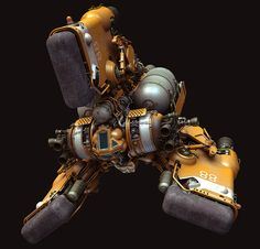"bassman5911:  Heavy Space Tug ""Gordon"" by Paul Pepera"