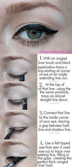FabFashionFix - Fabulous Fashion Fix   Beauty: How to Apply Eyeliner Tutorial