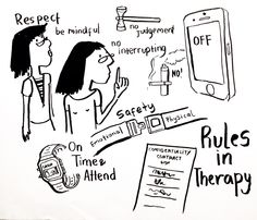 Art Therapy Group Rules #arttherapy #arttherapygroup #rules #illustration #arttherapyjakarta