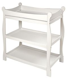 Badger Basket Sleigh Style Changing Table - White - Best Price