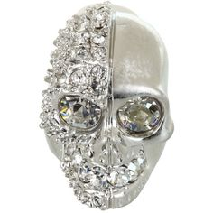 Alexander McQueen Skull Ring Two Faced found on Polyvore