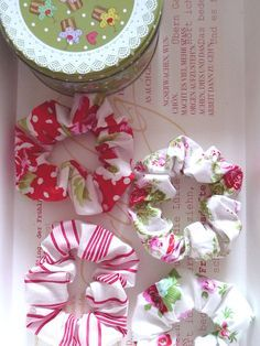 Easy to make Fabric Scrap Scrunchies