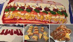 9 úžasných receptov, na ktorých si pochutnáte pri športových prenosov v TV Fingerfood Party, Party Buffet, Partys, Appetizer Dips, Canapes, Party Snacks, Stromboli, Love Food, Sushi