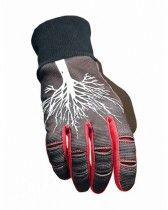 Gloves NoLeaf CARPEA dark grey/red