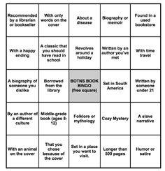 BOTNS Book Bingo!