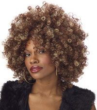 The Fine Foxy Brown & Blonde Fro Womens Wig will be the perfect addition to complete your 2019 Halloween costume! Accessories from Wholesale Halloween Costumes are top quality, so you will stand out from the rest! Foxy Cleopatra, Blonde Afro, Curly Hair Styles, Natural Hair Styles, Curly Fro, Foxy Brown, California Costumes, Fancy Dress Accessories, Hippie Accessories
