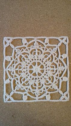 合細毛糸でトルコタイル風レース編みDN2 その1 の画像 野の花手芸噺