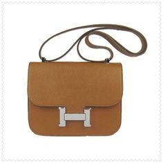 1f1d02726c1ef Constance Hermes Tasche braun silber Hardware