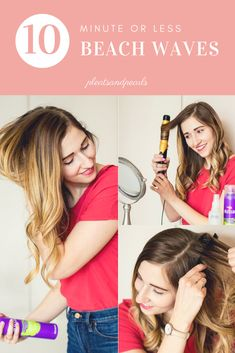 How to get loose beach waves in 10 minutes or less | beach wave hair tutorial for long thin hair | how to add volume to thin hair | hair styling tips