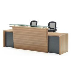 Factory wholesale price wood antique reception table melamine reception counter table design