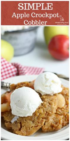 Can't make a pie crust like Martha?  No problem, try this SIMPLE version of an apple pie cobbler.  #cobbler #applerecipes #fallrecipes #falldesserts #applecobbler #simplepartyfood Apple Cobbler Easy, Apple Pie, Fall Desserts, Dessert Recipes, Drink Recipes, Vegetarian Cake, Easy Party Food, Yellow Cake Mixes, Unique Recipes