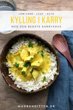 Kylling i karry - med den bedste karrysovs. Opskrift på den bedste kylling i karry Raw Food Recipes, Great Recipes, Chicken Recipes, Cooking Recipes, Healthy Recipes, Food N, Good Food, Food And Drink, Low Food Map Diet