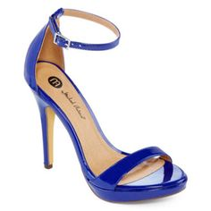 <p>Stop traffic in our sky-high ankle-strap sandals by Michael Antonio.</p><ul><li>synthetic upper</li><li>adjustable ankle strap</li><li>
