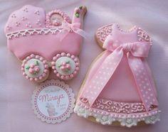 Galletas bautizo niña color rosa