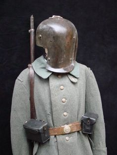A WWI full faced German sniper said armor.