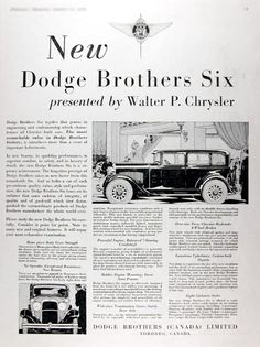 1929 Dodge Brothers Six Sedan original vintage ad. The most remarkable value in Dodge Bros. history. Mono-piece body provides stregnth. No squeaks and exceptional roominess. Powerful engine and balanced 7-bearing crankshaft. Rubber engine mounts, wide face transmission, over sized tires, hydraulic 4-wheel brakes and luxurious upholstery. Available in eight exclusive styles.