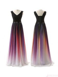 Hottest prom dresses,v-neck prom dress,ombre ,prom dresses 2016 #simibridal #promdresses