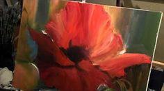 Пишем цветок маслом, уроки для начинающировх, Сахаров - YouTube