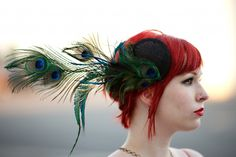 Teal & Red. Also, short red hair for wedding day? Bf's favourite...