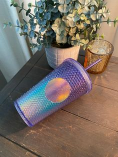 Starbucks Purple Ombre Studded Tumbler, Starbucks Summer Release 2, Starbucks Studded Tumbler Personalized Starbucks Cup, Custom Starbucks Cup, Starbucks Tumbler, Rainbow Swirl, Purple Ombre, All Sale, Summer Collection, How To Make, Gifts