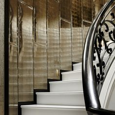 Grey Gold - Eglomise installation inspired by Coco Chanel's apartment on Rue Cambon in Paris - by Stuart Fox