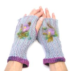 Handknit Fingerless Gloves Alpaca and Merino by TheSavvyStitch, $27.00
