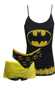 DC Comics Batgirl Camisole & Panty Set So fun! These cotton/ spandex camisole and panty sets for women resemble Batgirl'. Batgirl, Supergirl, Catwoman, Nerd Fashion, Punk Fashion, Lolita Fashion, Nananana Batman, Cute Pjs, Batman Outfits