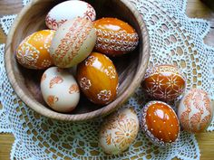 oranžová sada kraslíc / Zboží prodejce darček z farmy Egg Art, Egg Decorating, Holiday Parties, Easter Eggs, Spring, Party, Decorations, Style, Deko