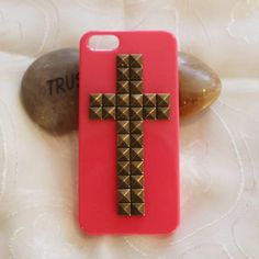 iphone case phone case  Iphone 5 case cross rivet studded  phone case  -shipped from USA. $8.99, via Etsy.