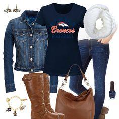 Denver Broncos Jean Jacket Outfit