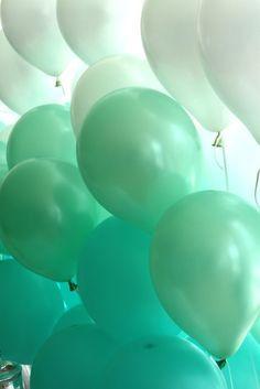 Mint Green Balloons