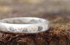 Silver Wedding Ring   Handmade   Eco by IdiosyncraticThings, £50.00