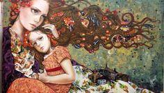 Mónica Fernández Mexican Artist Illustrations, Illustration Art, Foxes Photography, Muse Art, Witch Art, Human Art, Portrait Art, Figurative Art, Female Art