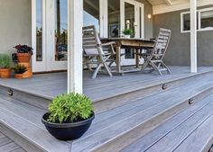 This porch looks very attractive indeed, don't you think? The deck was built using our EasyClean Legacy Ashwood decking. #compositedecking