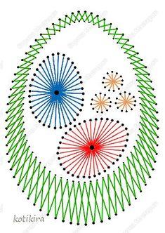 Пасха Изонить К Пасхе Пасхальные яички Изонить Картон Нитки фото 3
