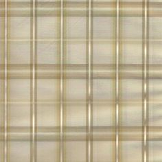 Custom window treatments or fabric by the yard : Strafford Plaid in Sand color - with hues of gold and taupe in a poly fabric woven to look like silk for low maintenance bathroom, living room or custom kitchen curtains