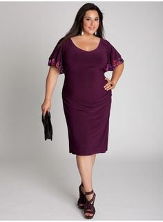 Sonia Dress in Merlot - sleeve detail on this dress is gorgeous