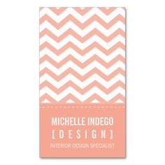 BUSINESS CARD bold trendy chevron stripes apricot. I love this design! It is available for customization or ready to buy as is. All you need is to add your business info to this template then place the order. It will ship within 24 hours. Just click the image to make your own!